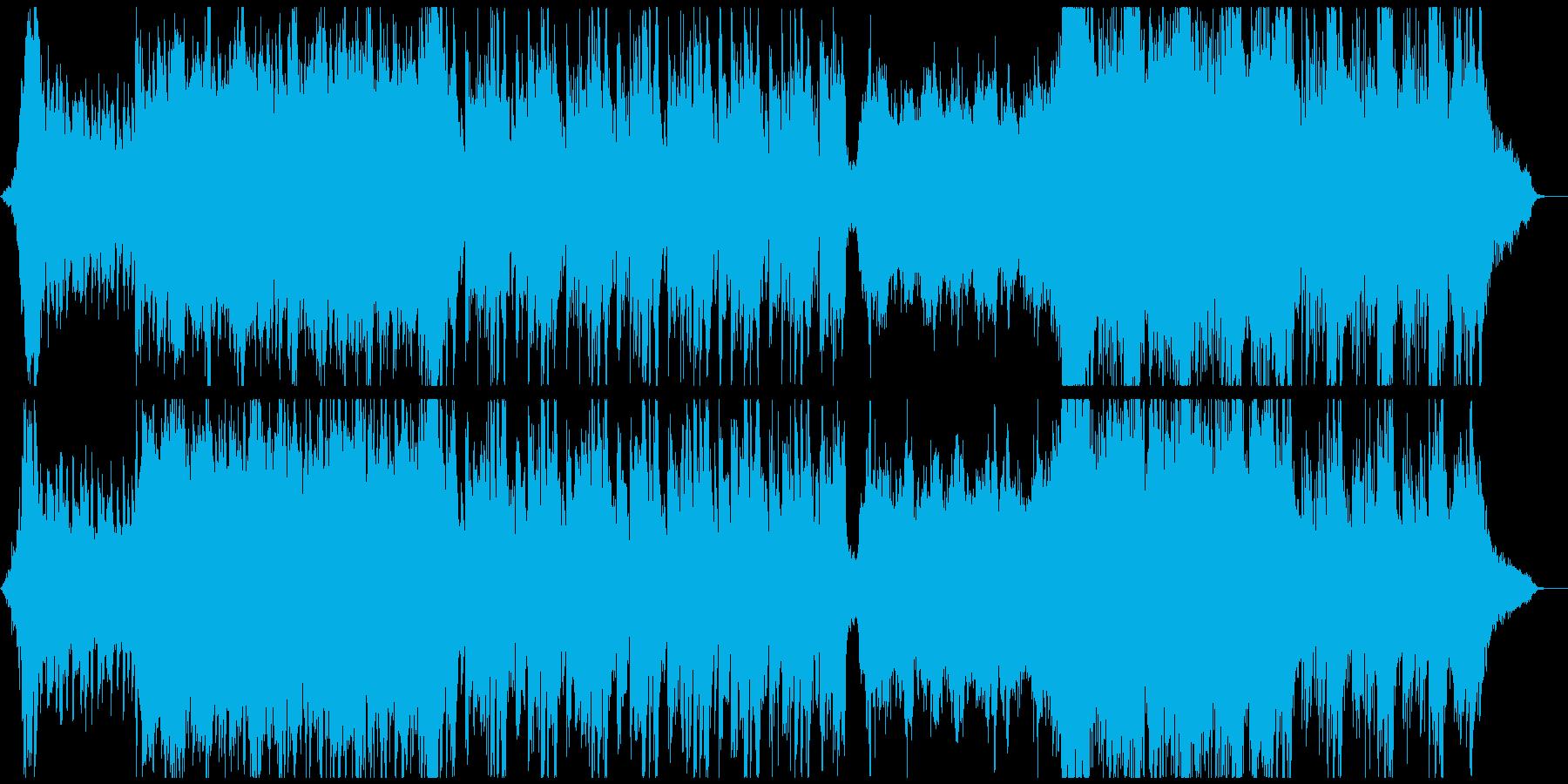 壮大で幻想的なワルツオーケストラの再生済みの波形