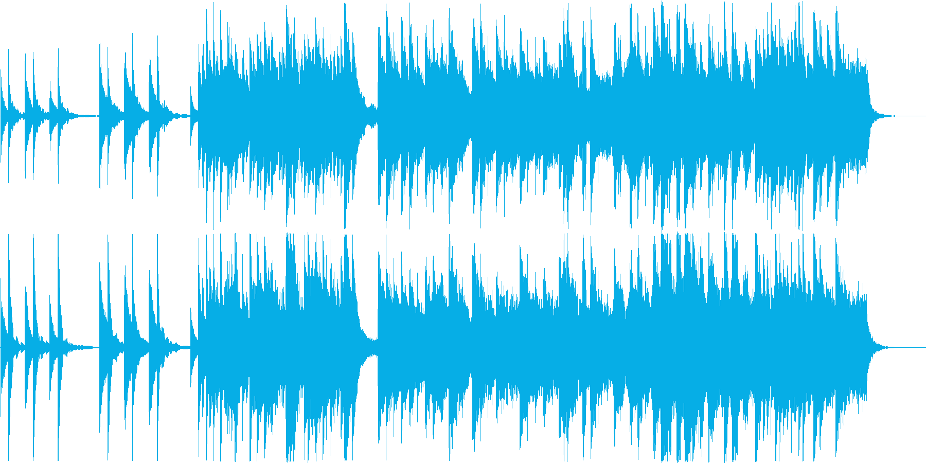 叙情的なバラード調のヒーリングの再生済みの波形