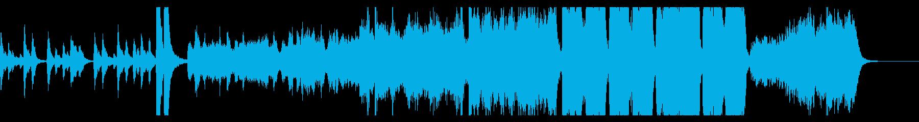 ハロウィン幽霊屋敷イメージのオケ曲の再生済みの波形
