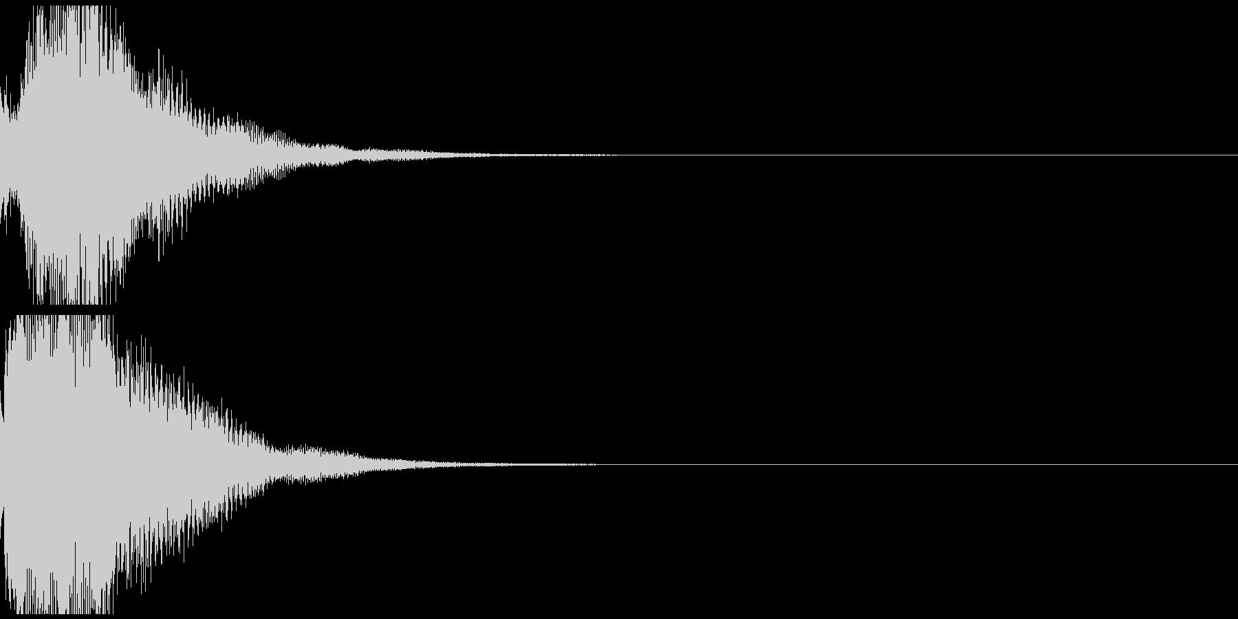 テレレン 透明感のある高品位な音の未再生の波形