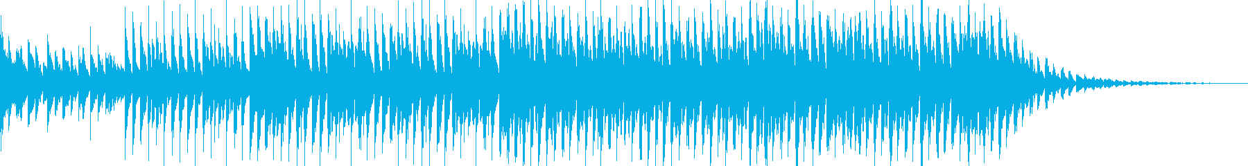 ハッピーでテンポの良い曲の再生済みの波形