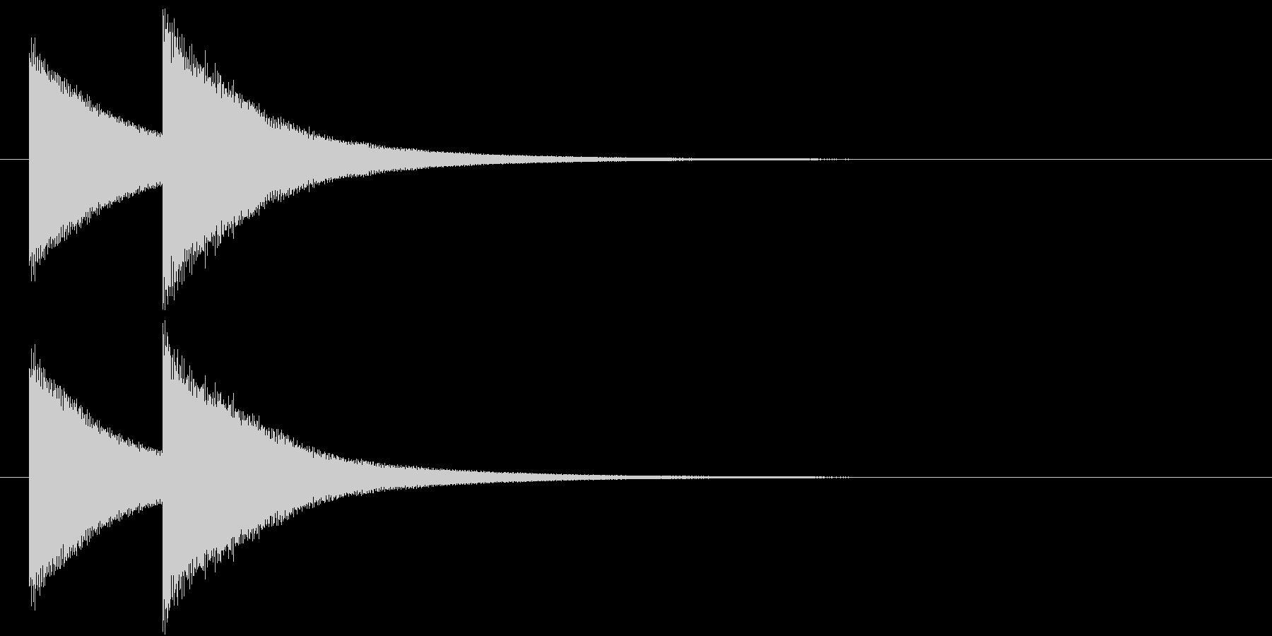 鐘(失格、あと一息のチャイム、ドレ)の未再生の波形