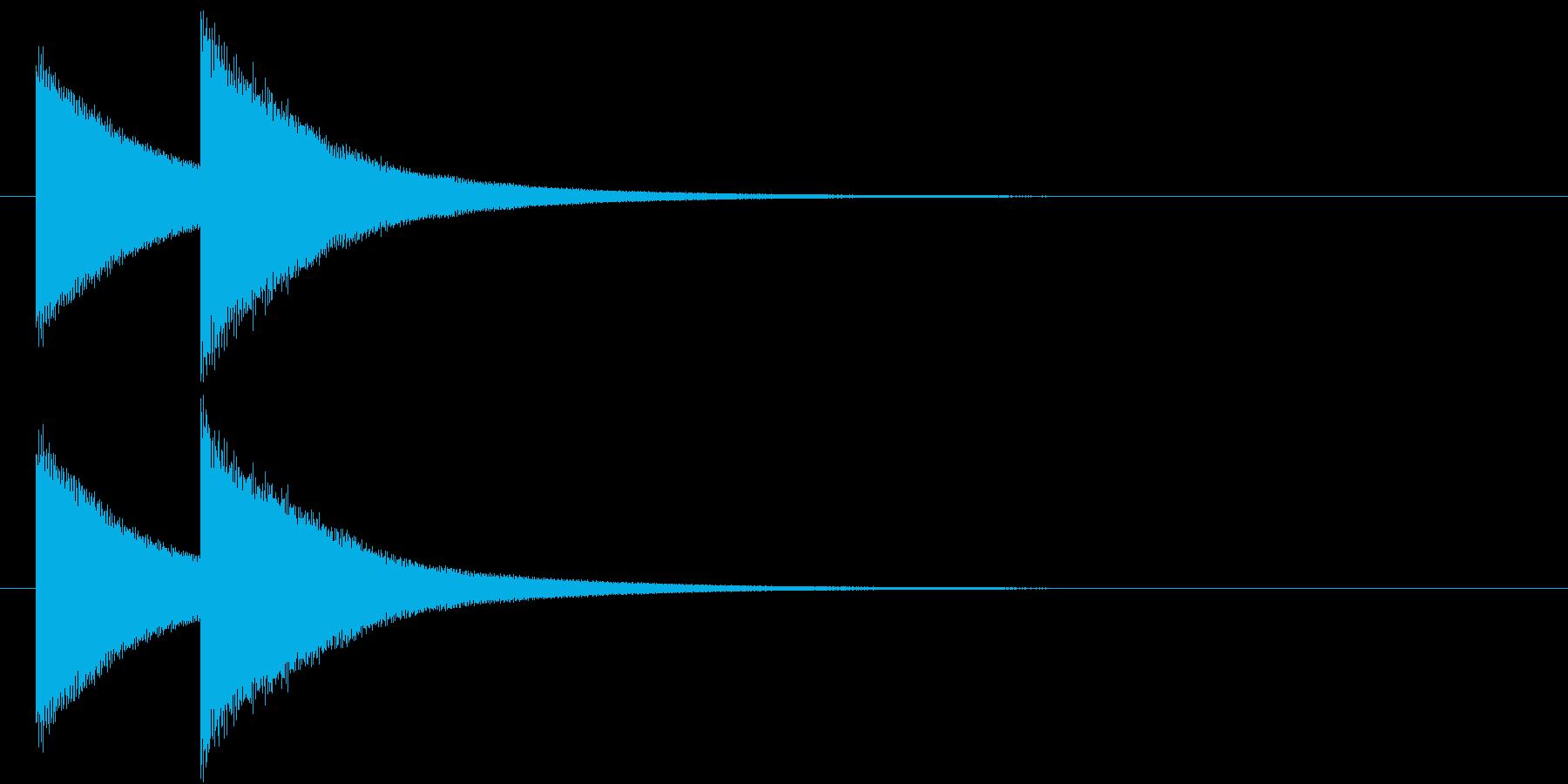 鐘(失格、あと一息のチャイム、ドレ)の再生済みの波形