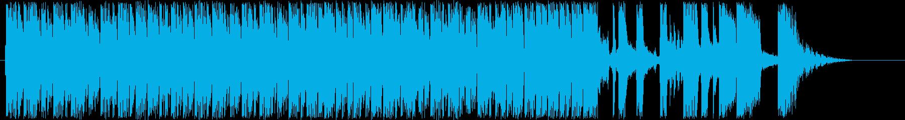 疾走感あるアップテンポのエレキギターの再生済みの波形