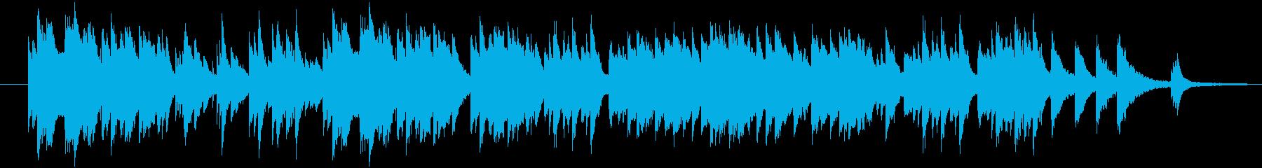 様々な用途で使える穏やかで温かなピアノ曲の再生済みの波形
