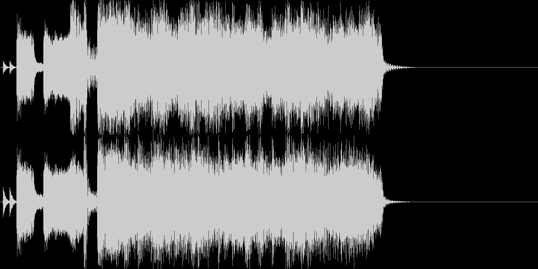 ロックジングルアップテンポアイキャッチの未再生の波形