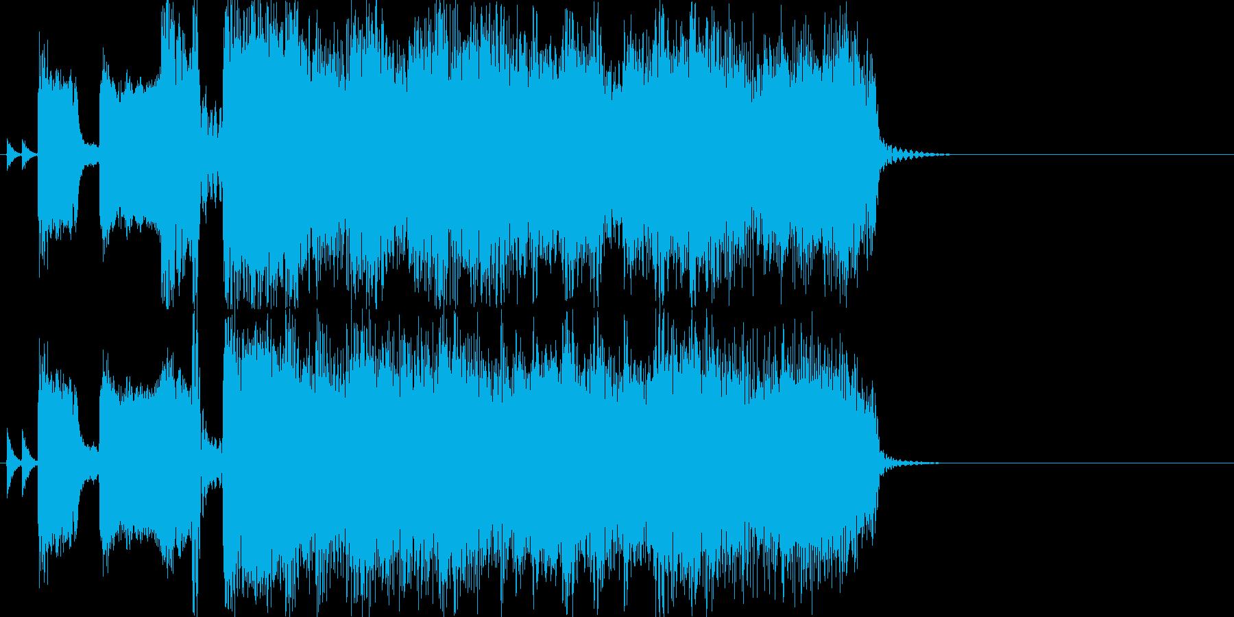 ロックジングルアップテンポアイキャッチの再生済みの波形