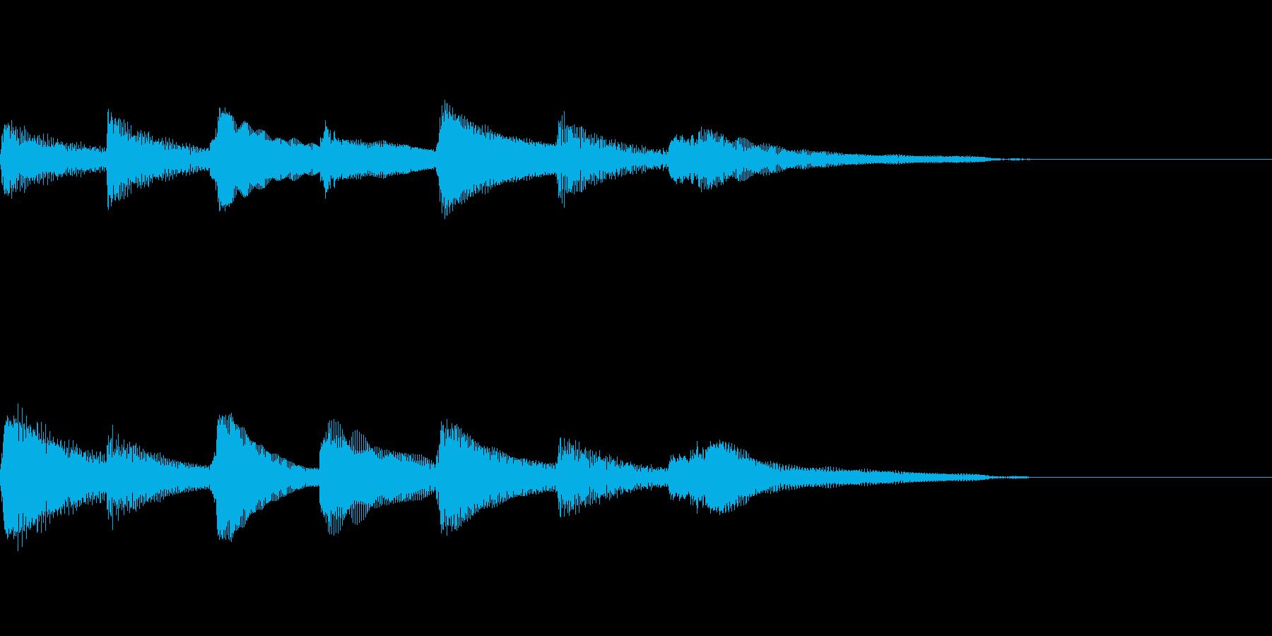 やさしいピアノ・サウンドロゴ7の再生済みの波形