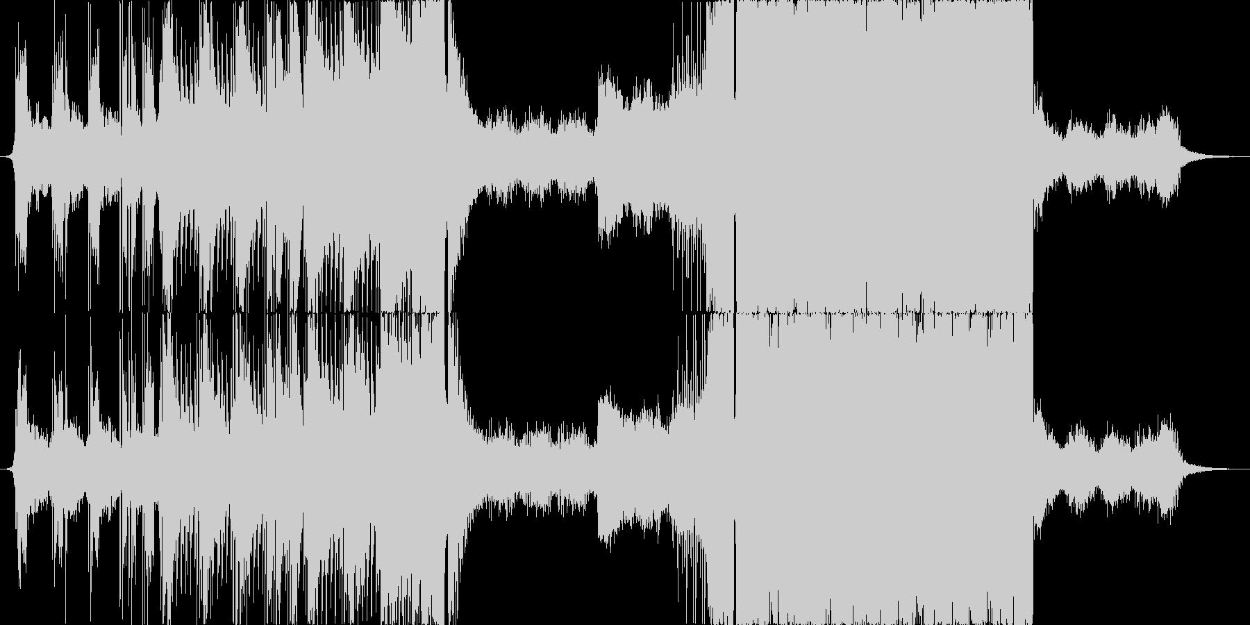 キャッチーなメロのEDMサウンドの未再生の波形