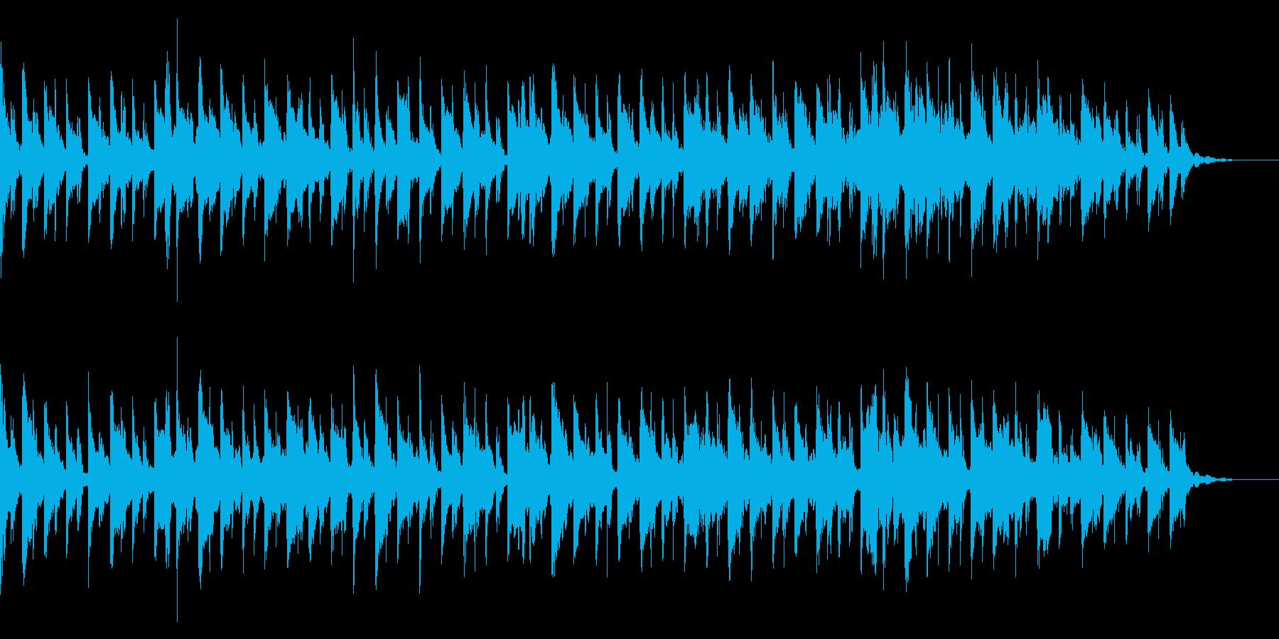 おしゃれなテクノBGMの再生済みの波形