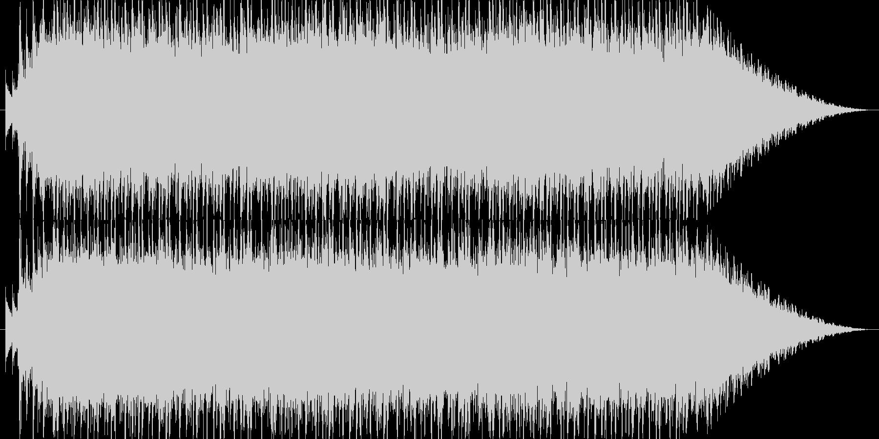 明るく元気で激しいノリノリなポップロックの未再生の波形