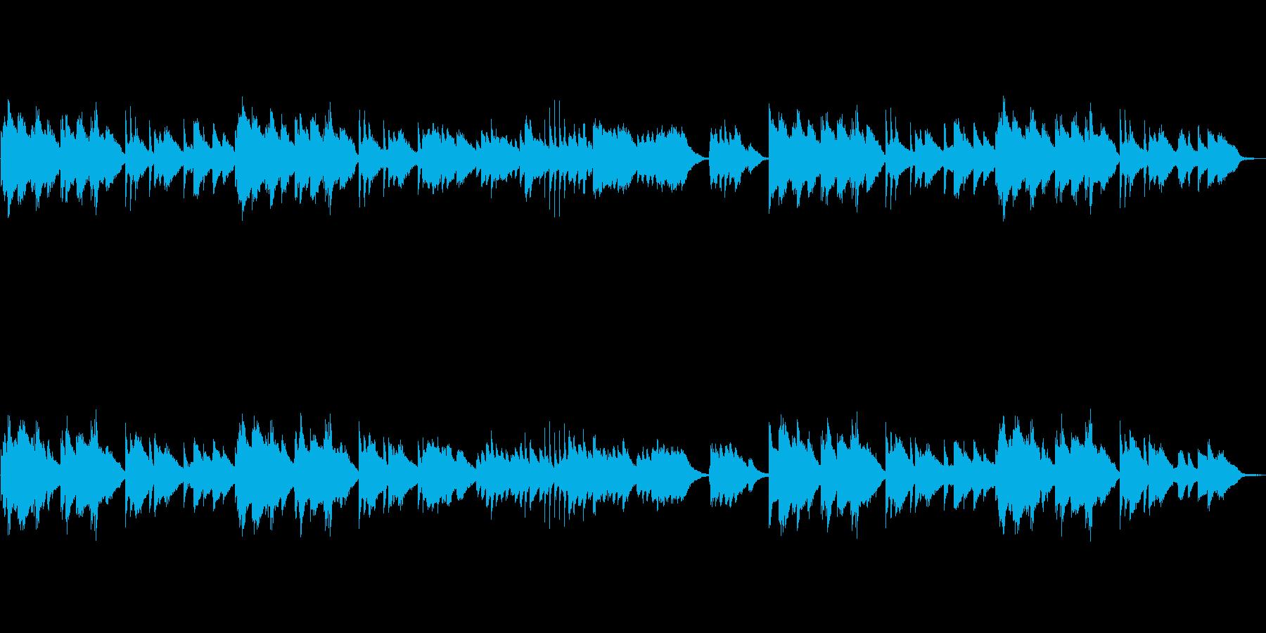 ワルツ ピアノ オシャレなコードの再生済みの波形