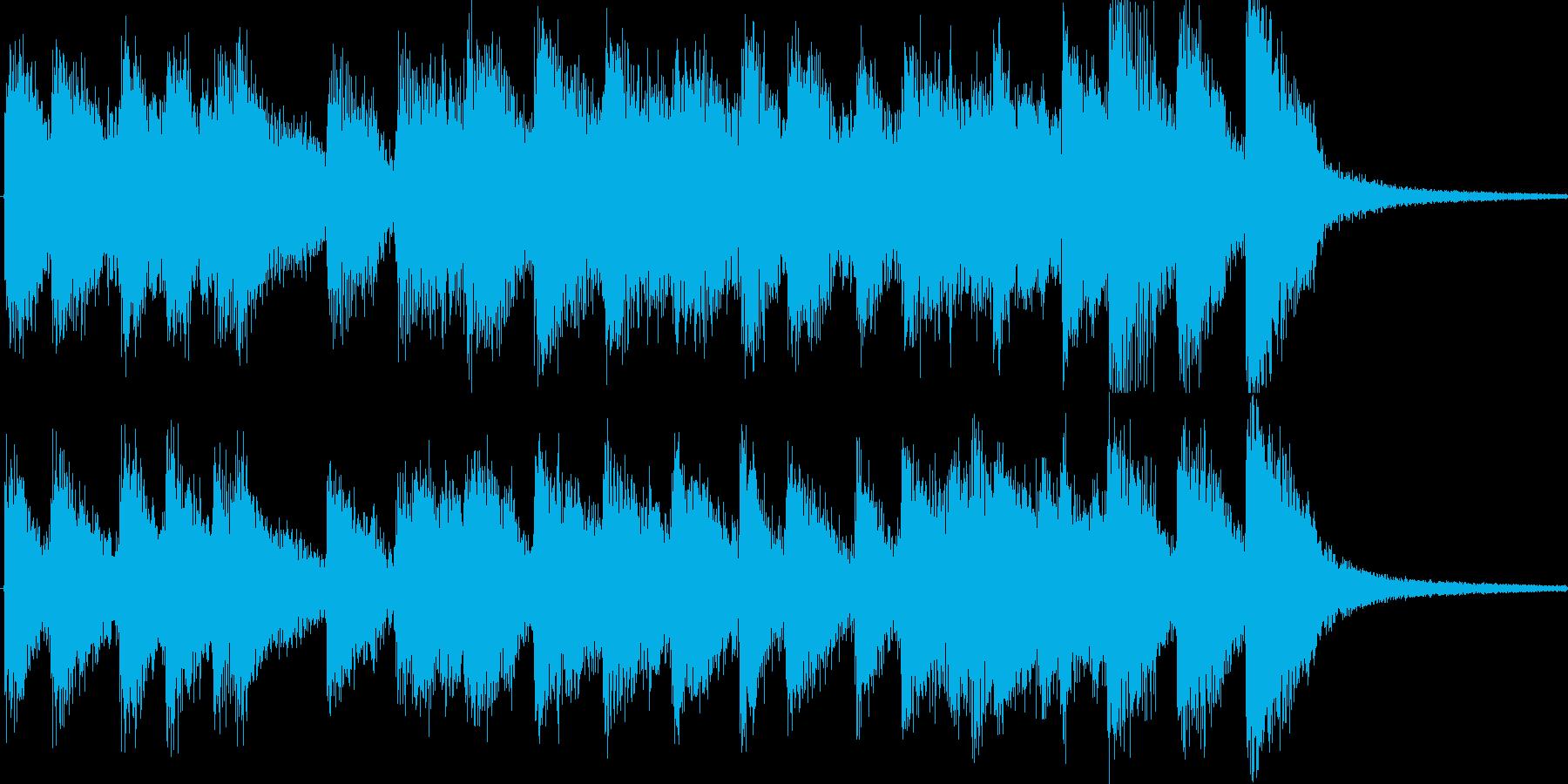 ニュース番組のオープニング等をイメージの再生済みの波形