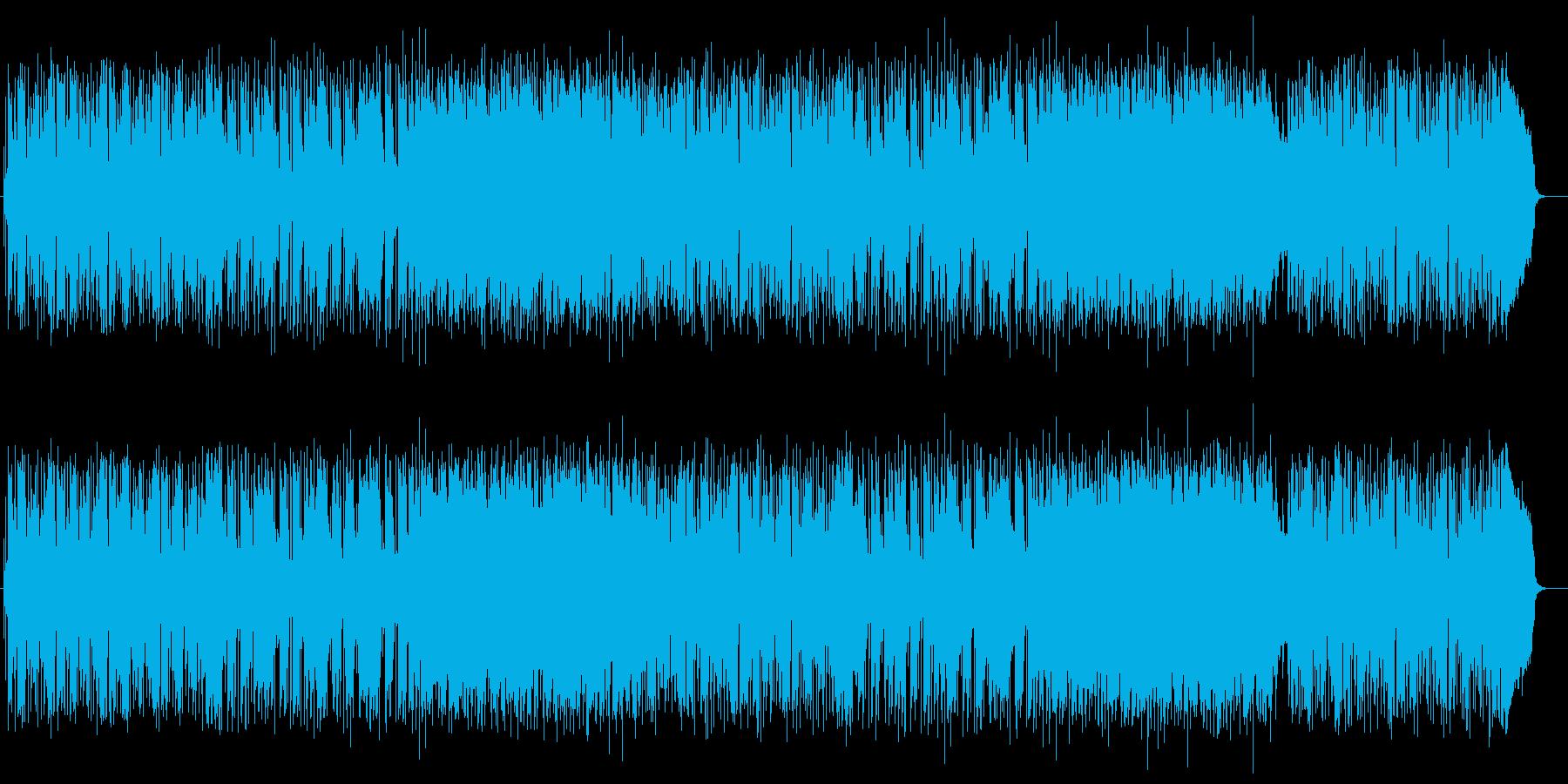 軽快なリズムが特徴の日常的なポップスの再生済みの波形