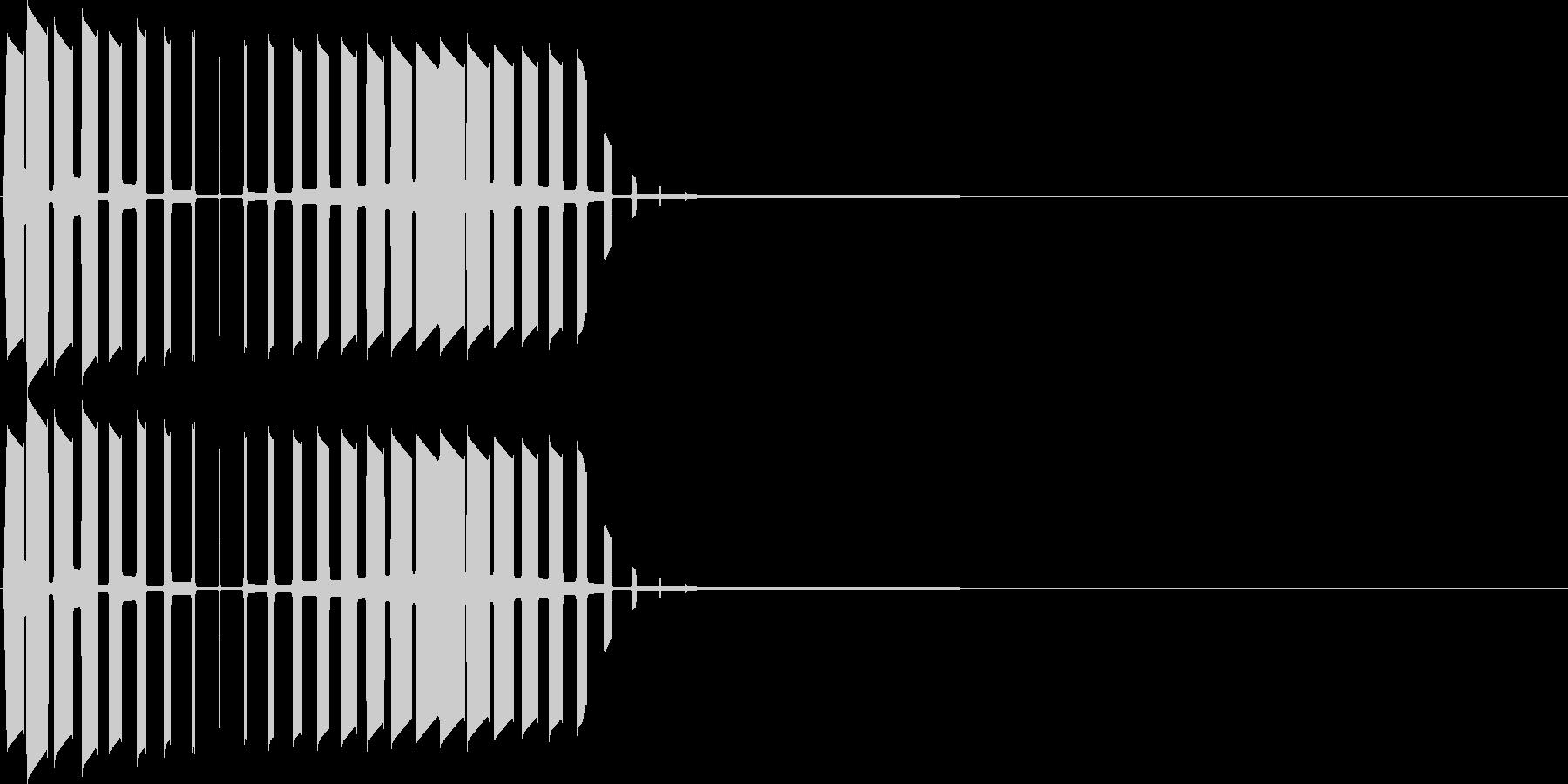 キャンセル音(プ)の未再生の波形