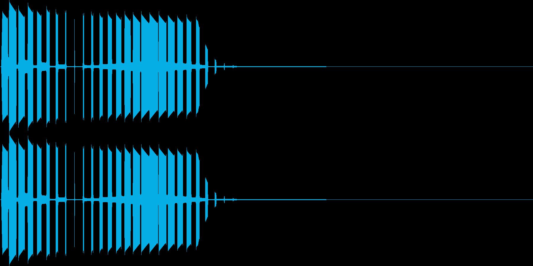 キャンセル音(プ)の再生済みの波形