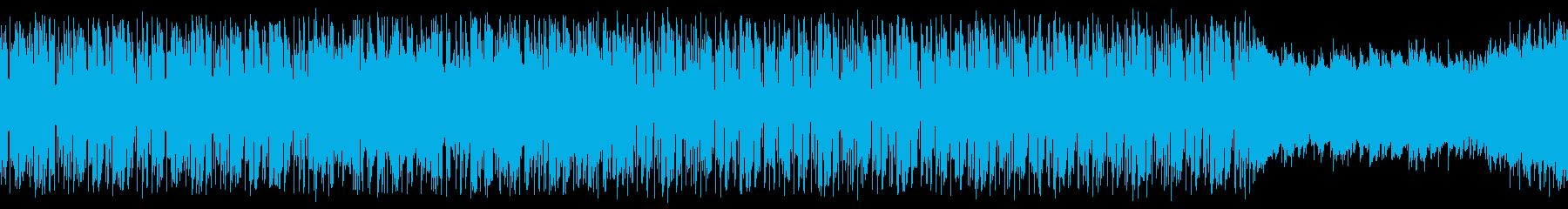【ループ用】お洒落で怪しいゲームBGMの再生済みの波形
