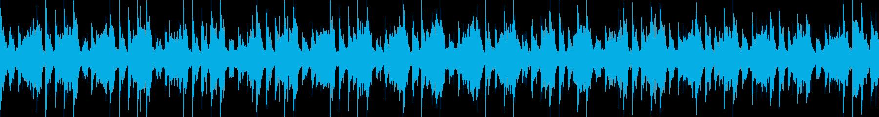 ピコピコ音の楽しいイージーリスニング曲の再生済みの波形