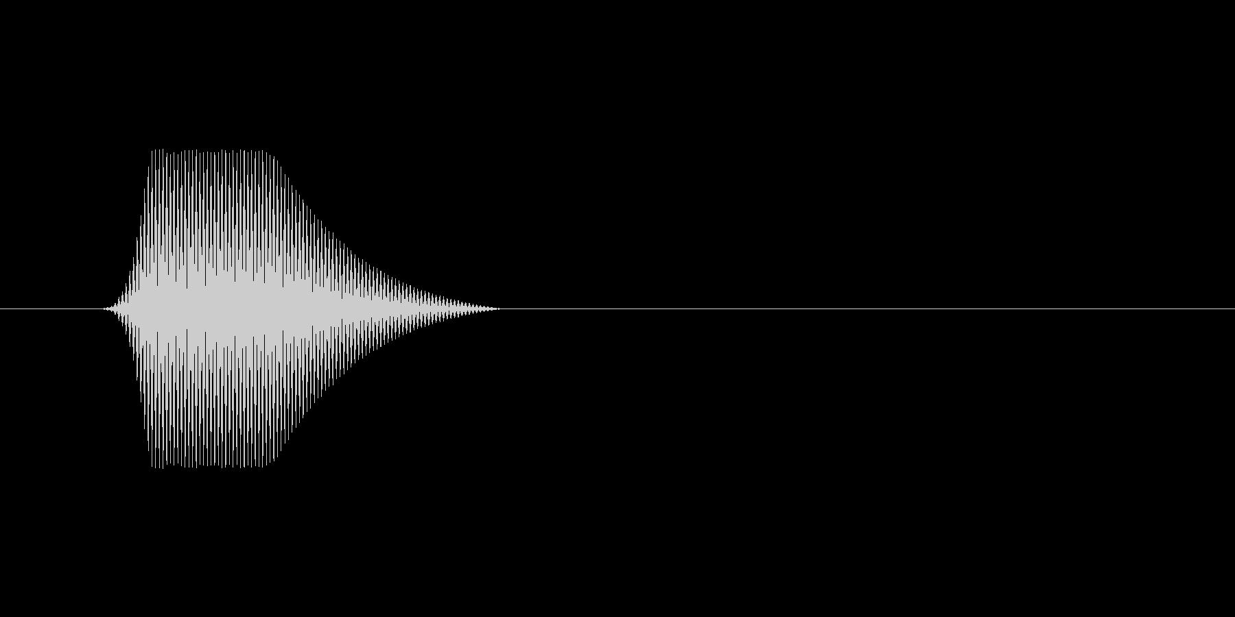 ファミコン風効果音カーソル系です 10の未再生の波形