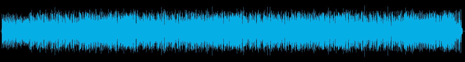 ほのぼのしたアコースティック曲の再生済みの波形