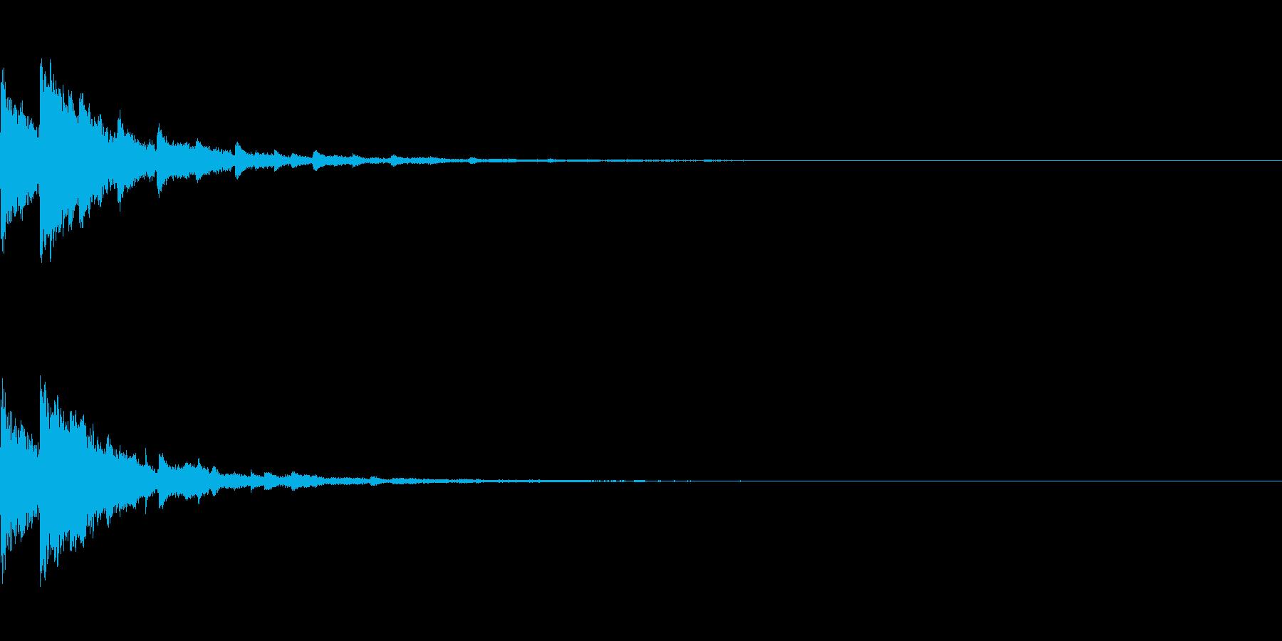 テュイン(ゲーム・アプリ等の決定音)の再生済みの波形