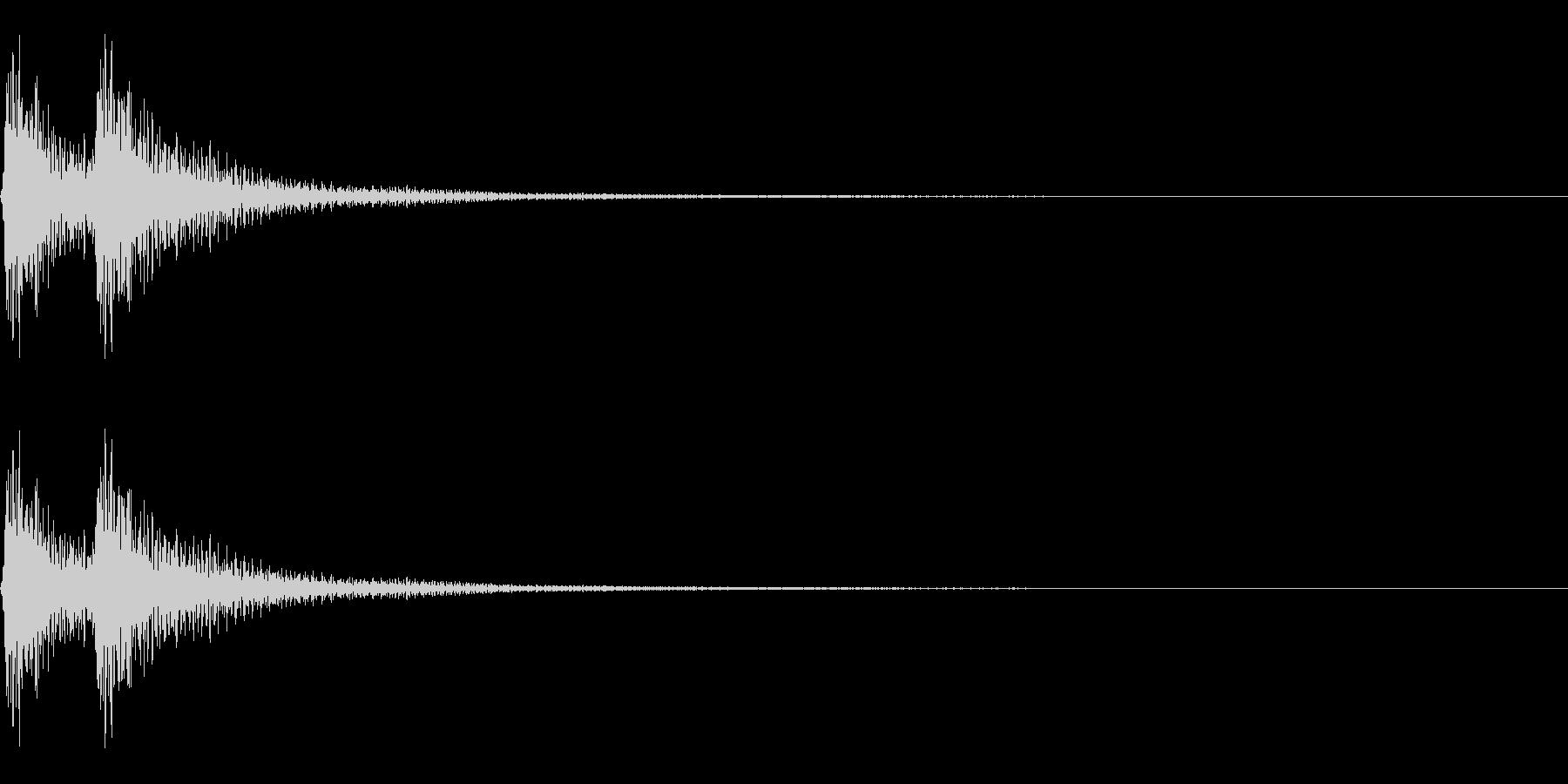 始まりや終りを告げる三味線~べべん~の未再生の波形