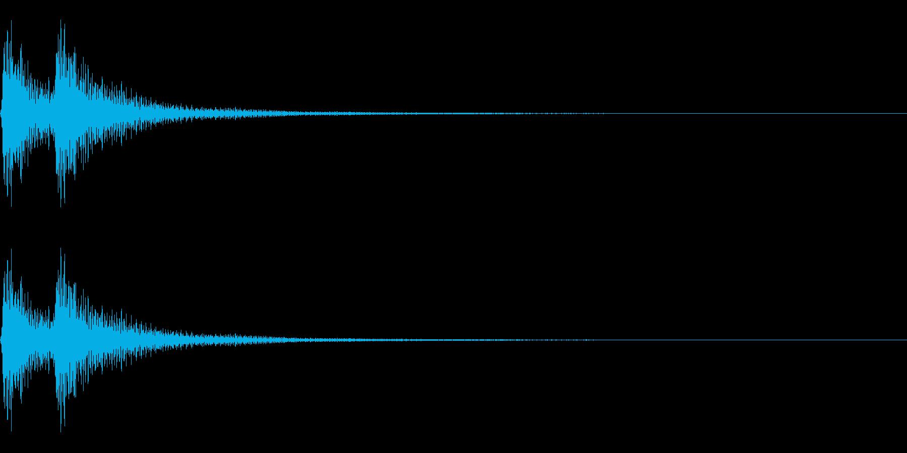 始まりや終りを告げる三味線~べべん~の再生済みの波形