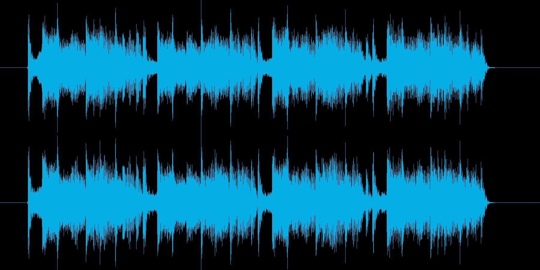 ヒップホップ系トラックのジングルの再生済みの波形