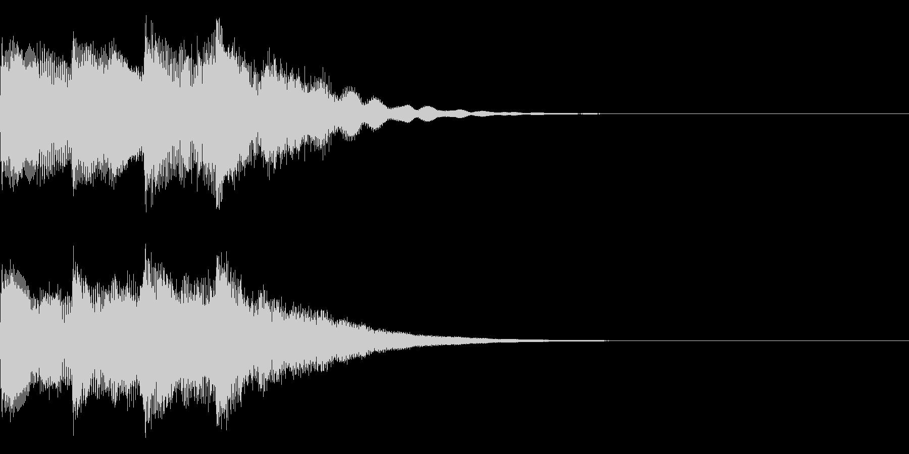 キンコンカンキーン(明るい電子効果音)の未再生の波形