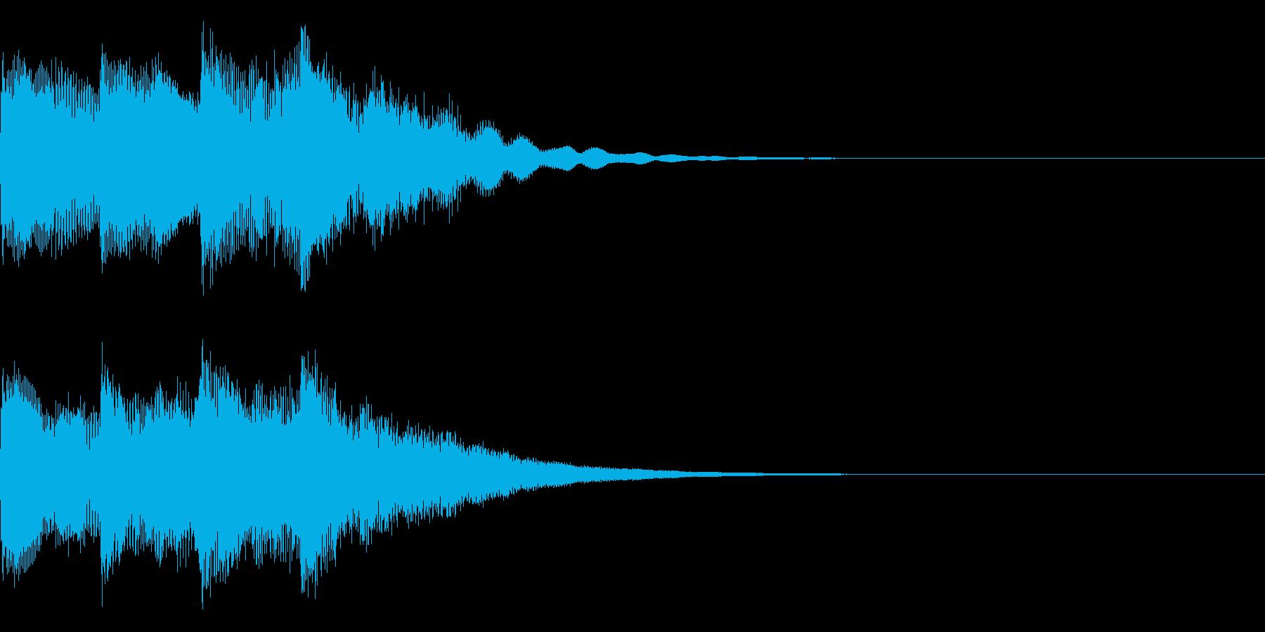 キンコンカンキーン(明るい電子効果音)の再生済みの波形