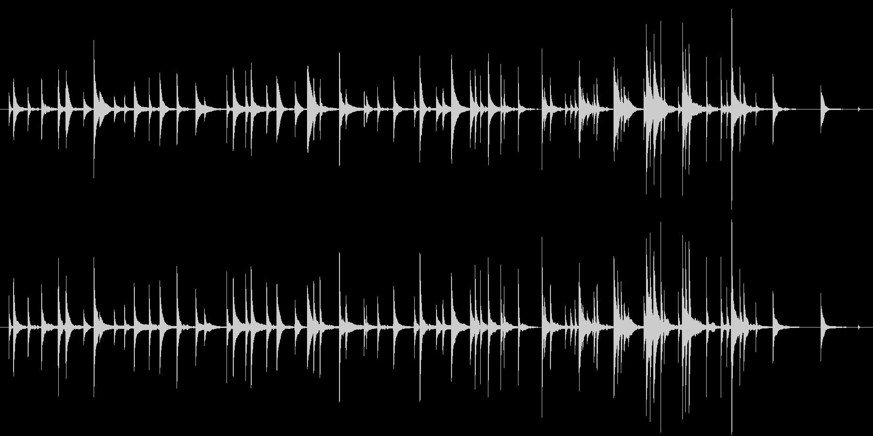 別れ 切なく たんたんと ■ ピアノソロの未再生の波形