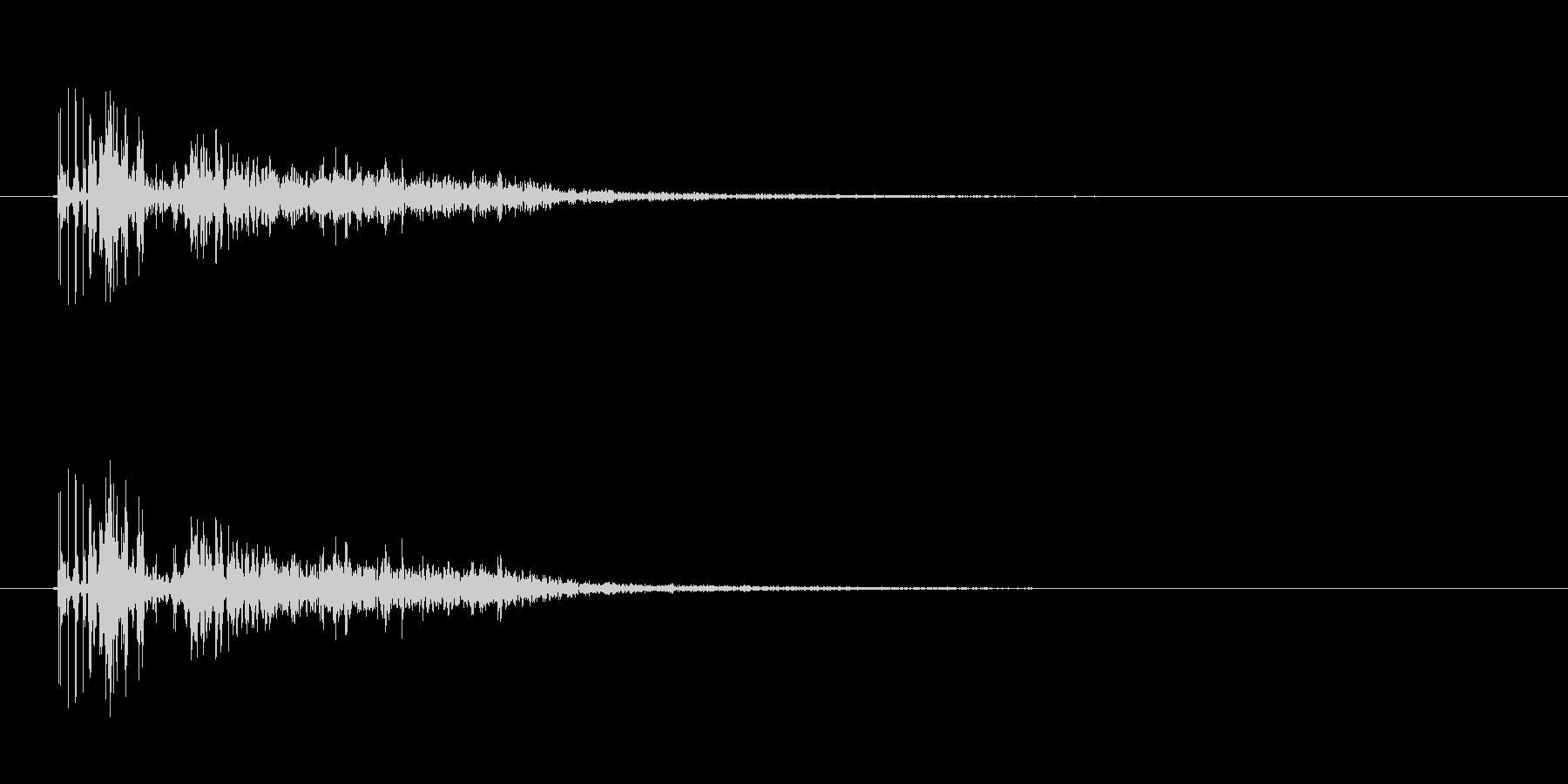 巨人の足音 の未再生の波形
