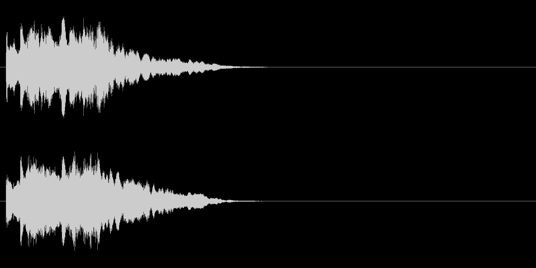 ジングル/神秘的、場面転換(環境)の未再生の波形