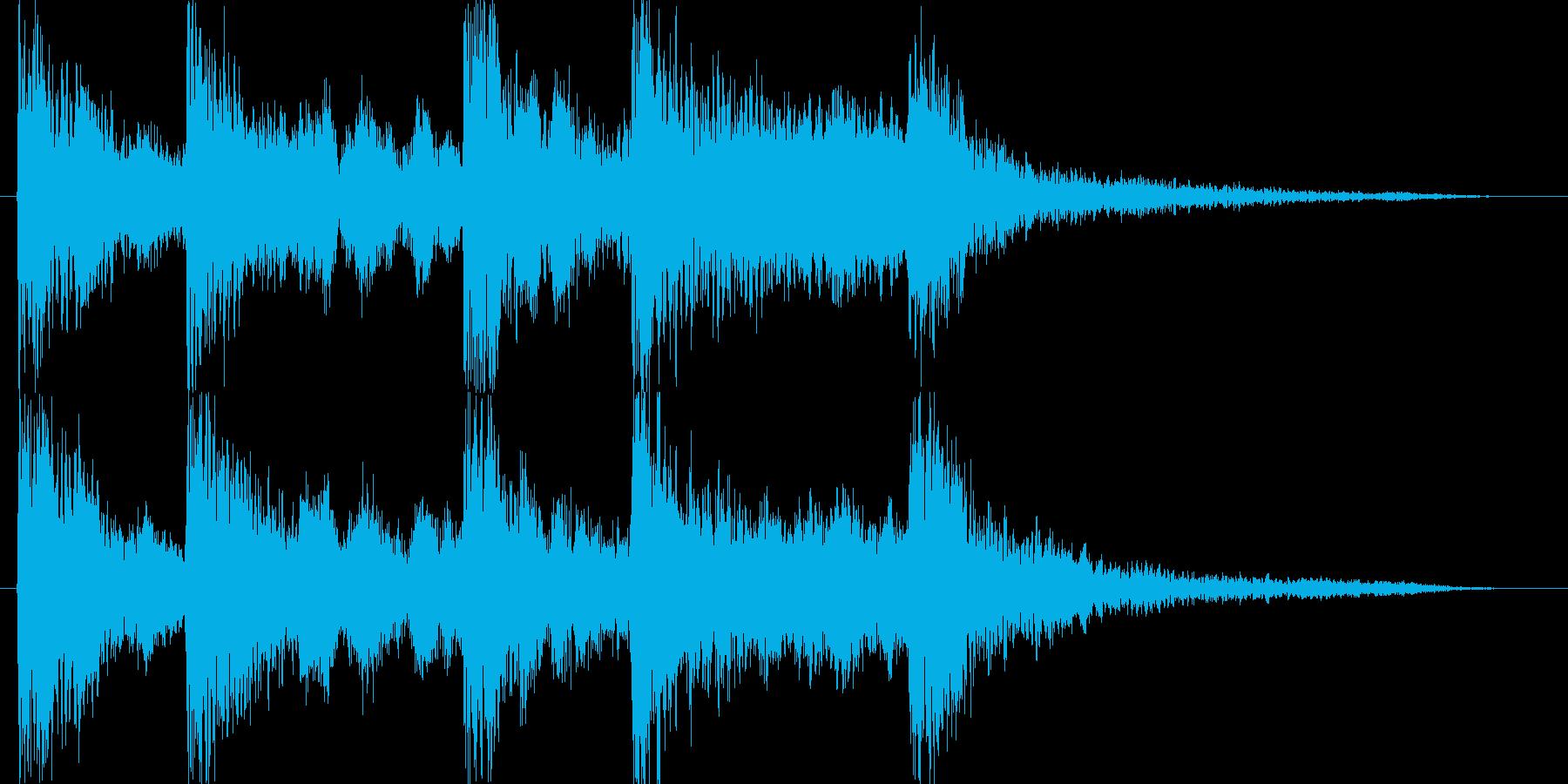 中国チャイナ風ジングル出囃子音の再生済みの波形