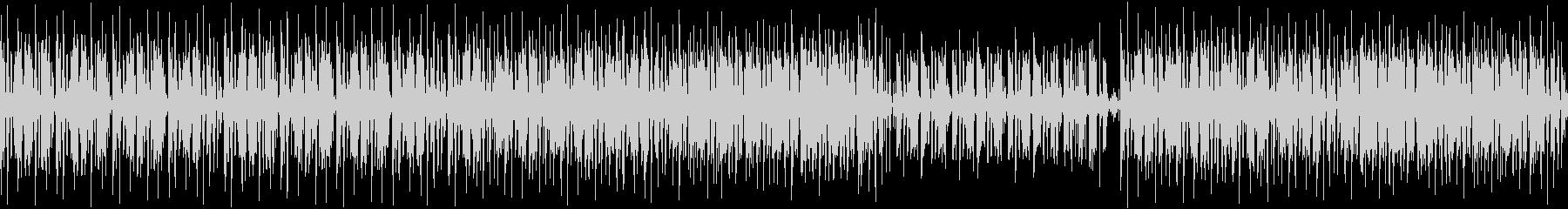 少しダークな雰囲気のあるシンプルなBGMの未再生の波形