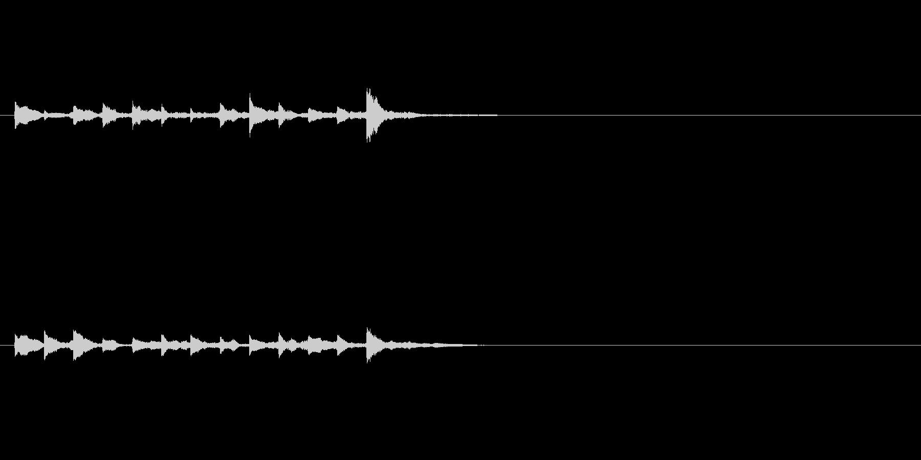 RPGの宿屋 システム音の未再生の波形