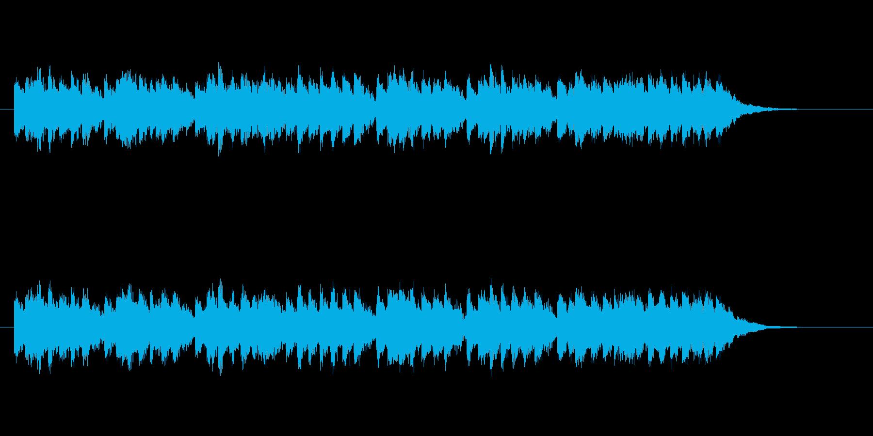 明るく軽やかなシンセサウンドの再生済みの波形