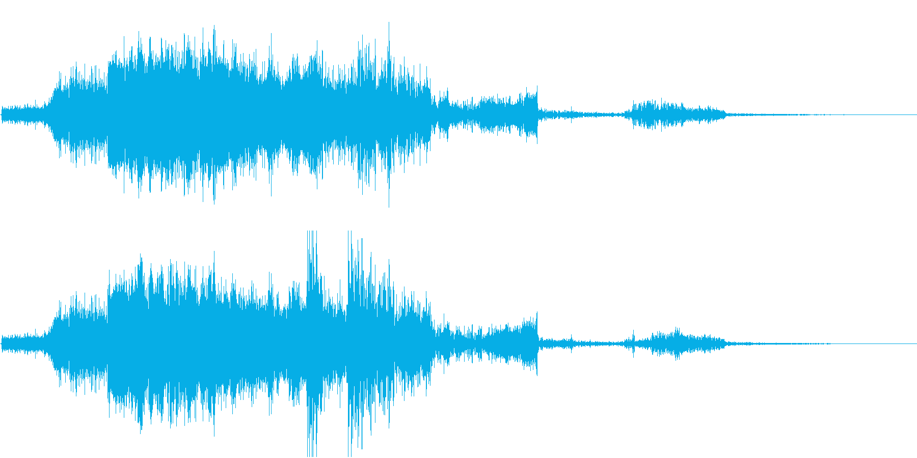 FMラジオ的ジングル1の再生済みの波形