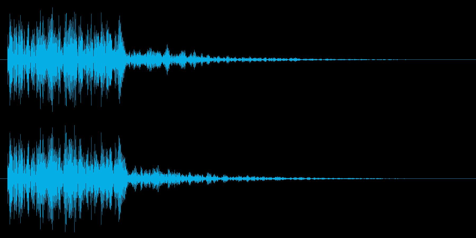 巨人の足音ーC ドーン 衝撃 爆発 攻撃の再生済みの波形