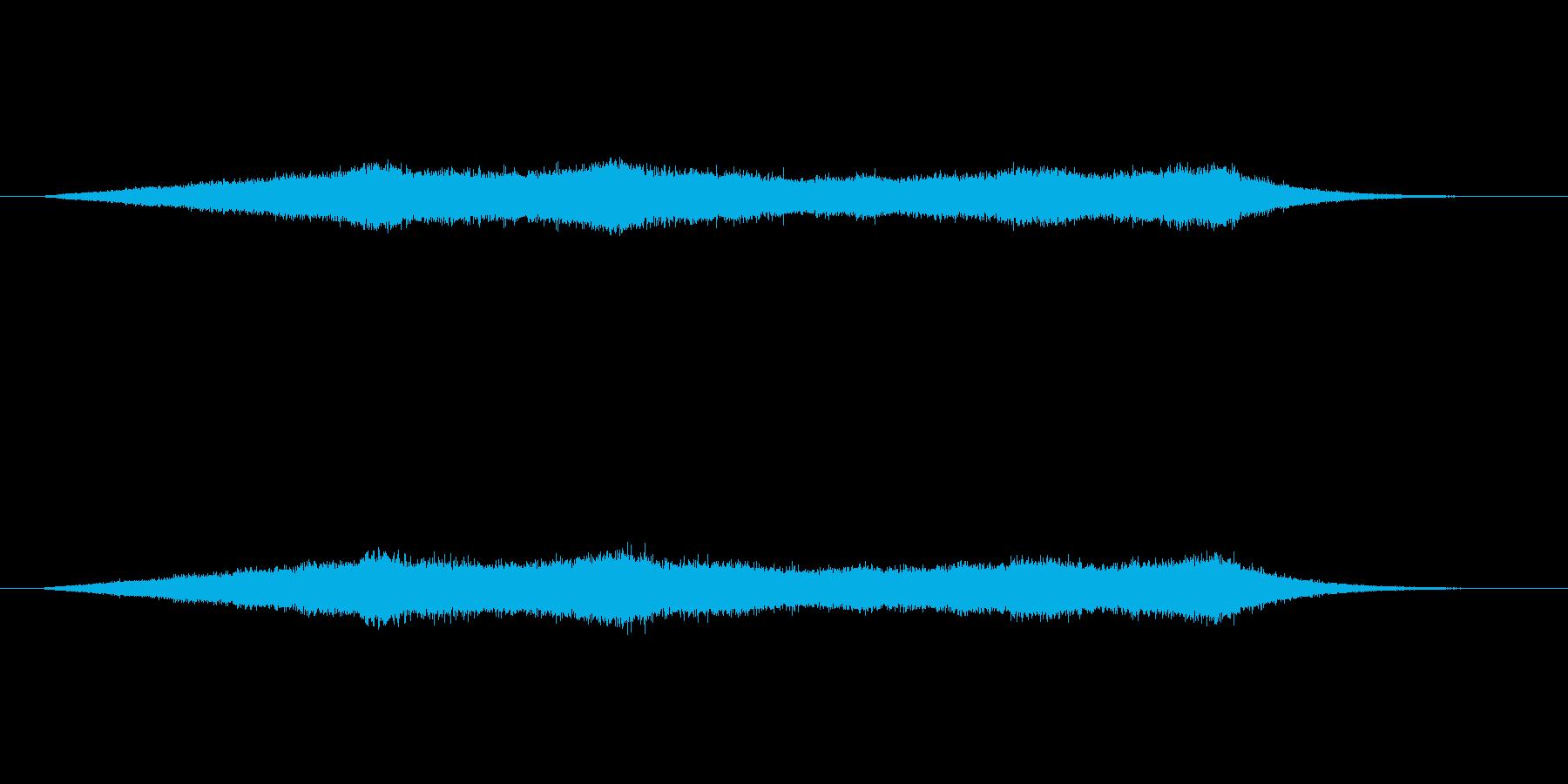 穏やかな波の音の再生済みの波形
