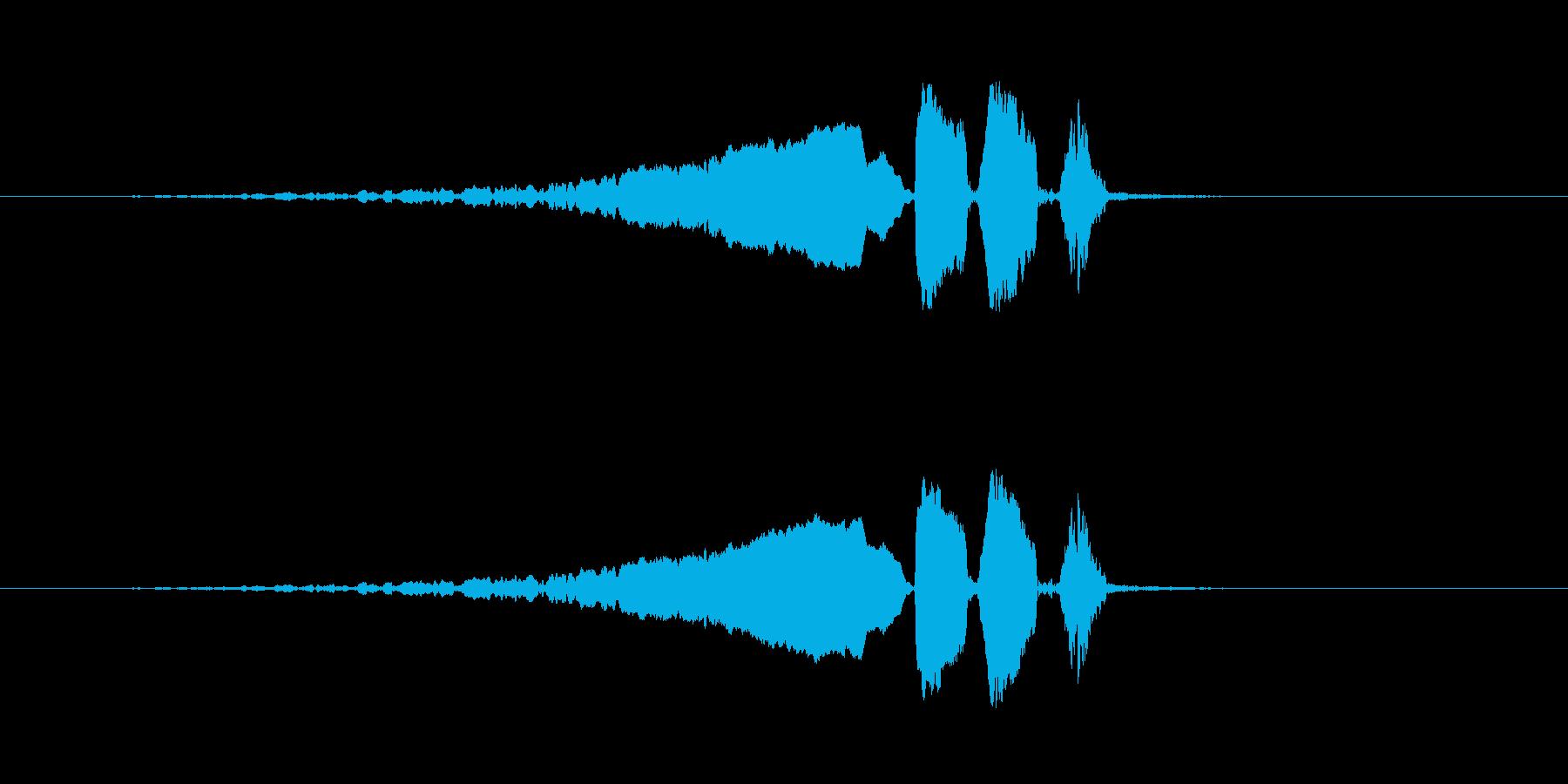 【ウグイス 合成01-3】の再生済みの波形