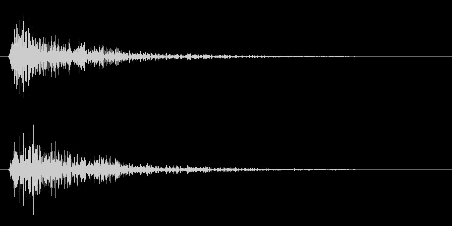 カンッ(金属を叩いた短めの効果音)の未再生の波形