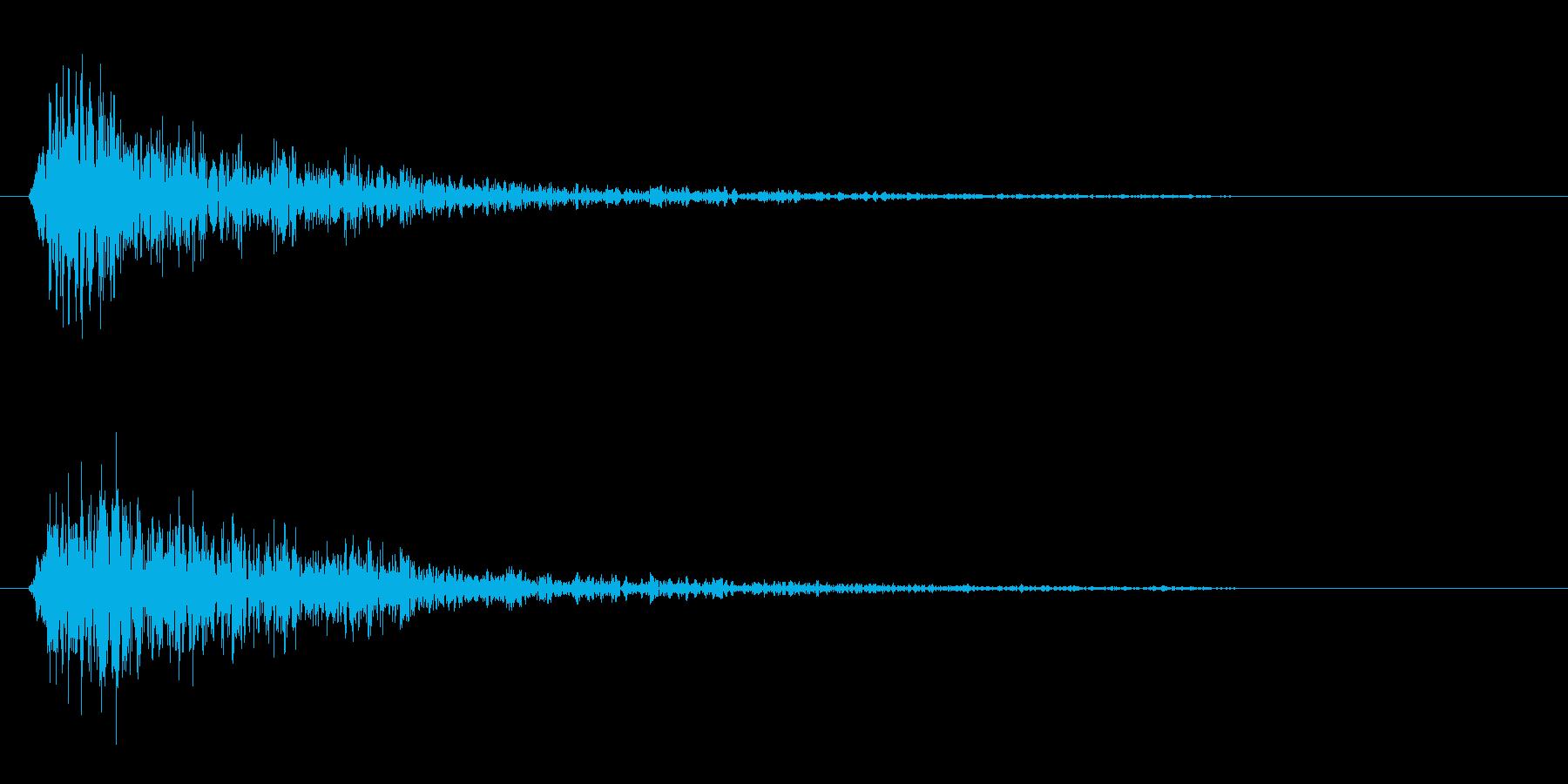 カンッ(金属を叩いた短めの効果音)の再生済みの波形