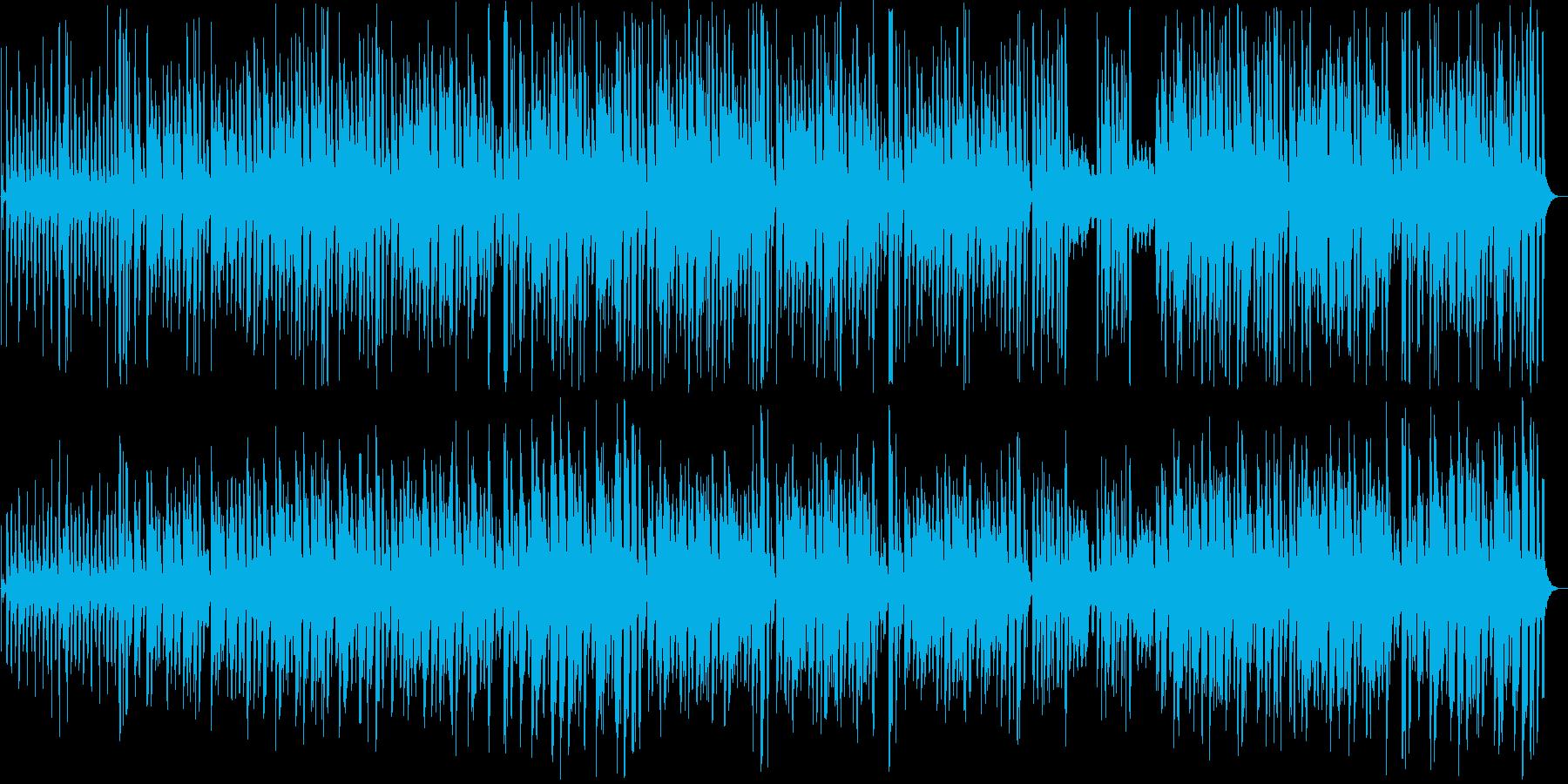 楽しげなインフォメーション曲の再生済みの波形