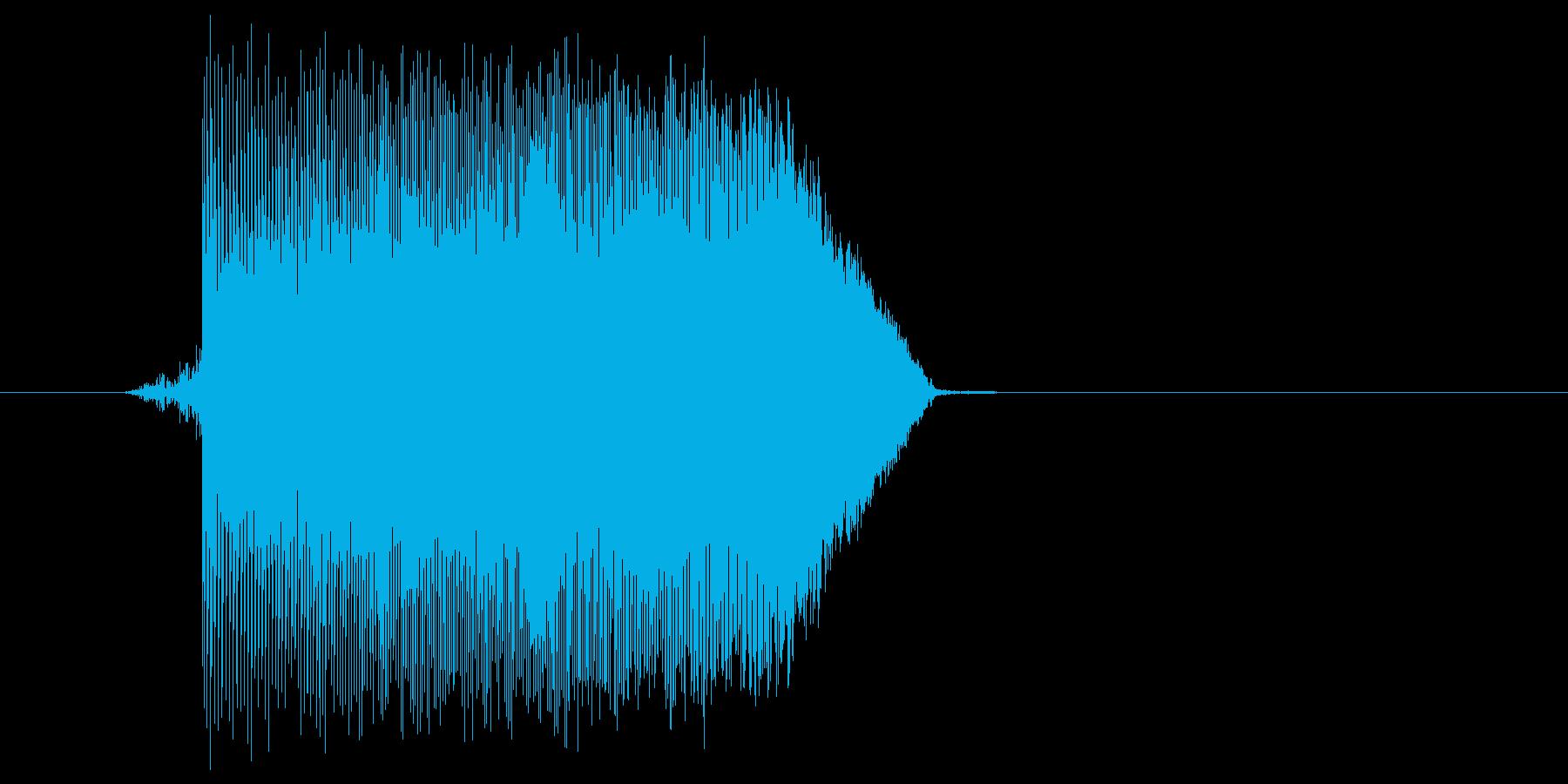 ゲーム(ファミコン風)ジャンプ音_013の再生済みの波形
