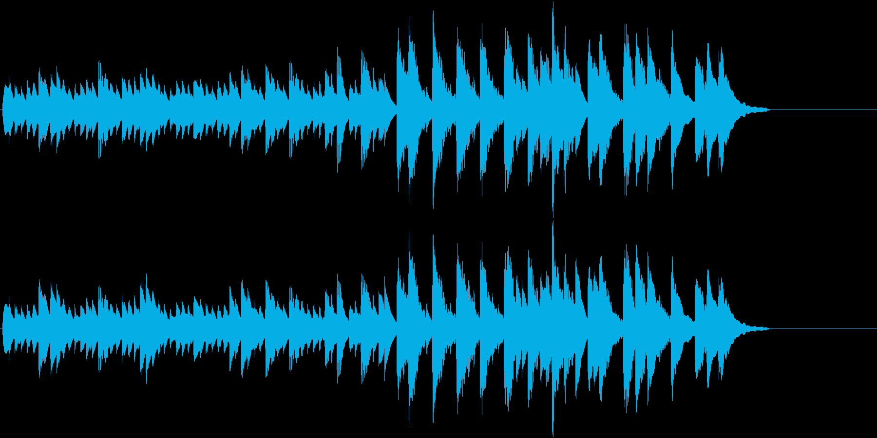 可愛らしいピアノ曲 練習曲風 明るいの再生済みの波形