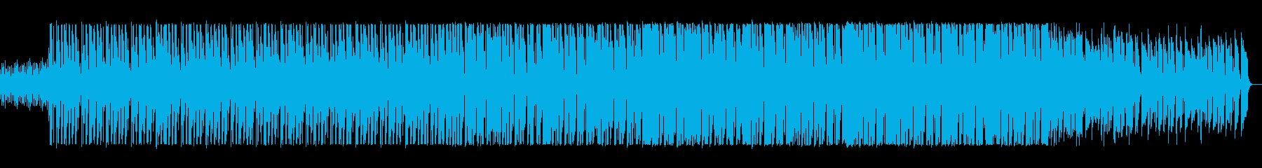 宇宙的な音が飛び交うポップスの再生済みの波形
