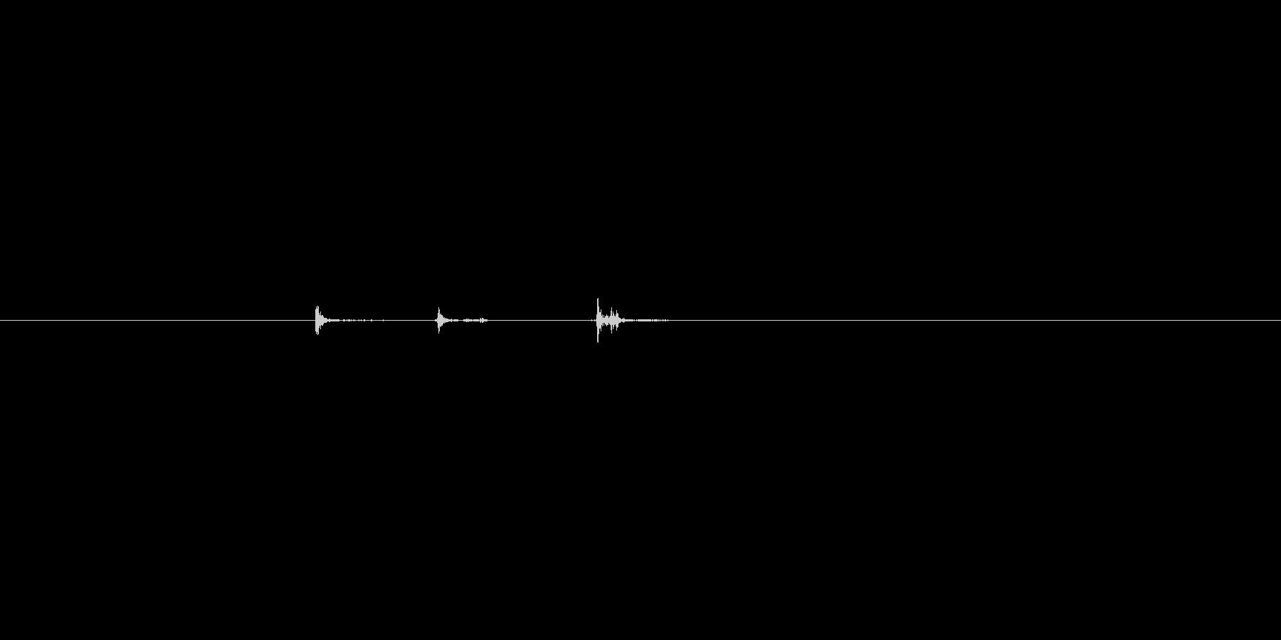 ハンドガン。照準合わせや動作音。の未再生の波形
