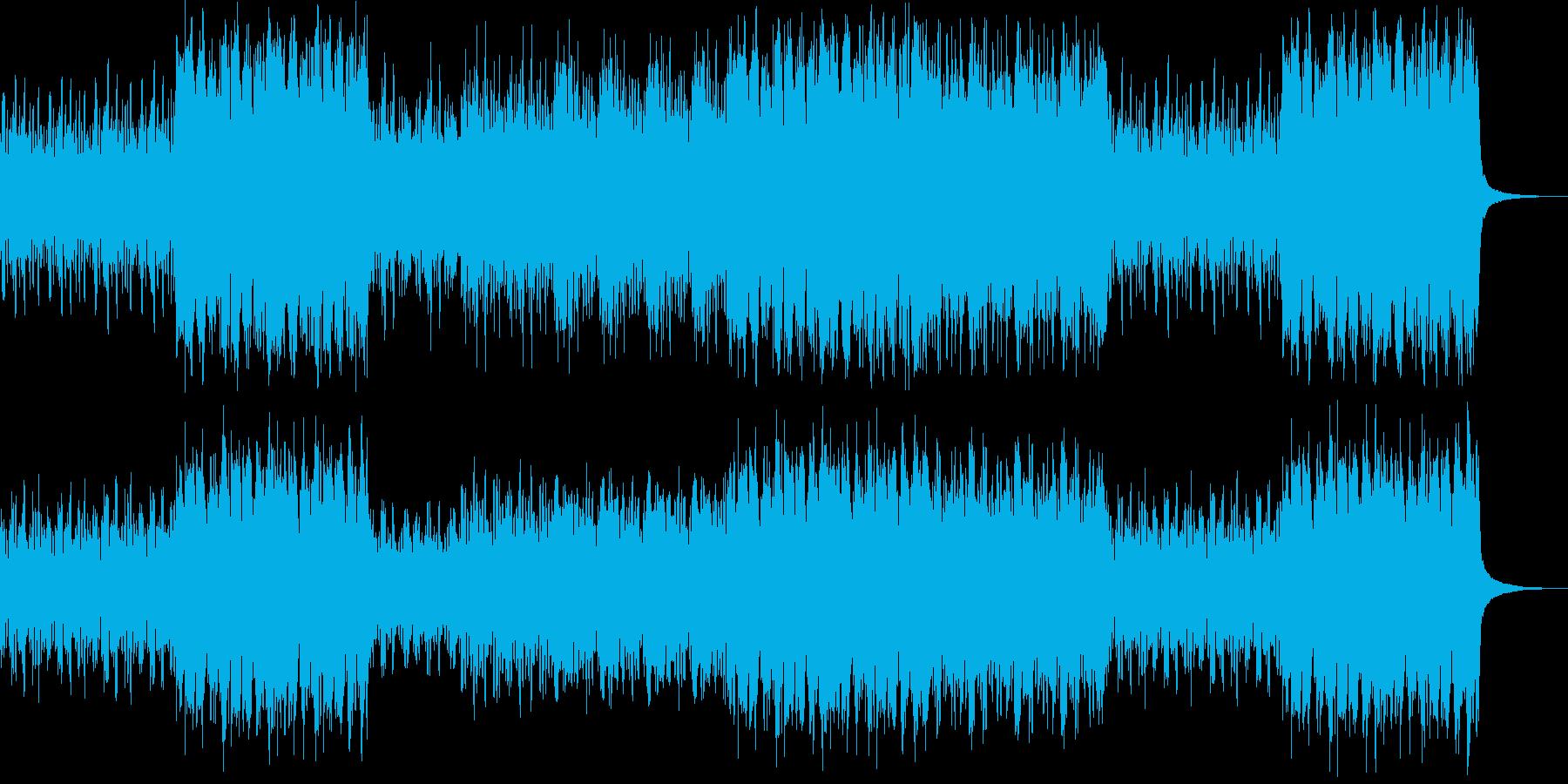明るく賑やかなオーケストラの再生済みの波形
