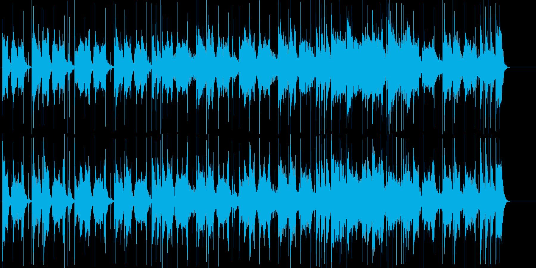 探索するイメージの怪しげなBGMの再生済みの波形